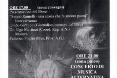 """Volantino dell'evento """"Fronte in festa"""""""
