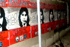 Manifesti affissi per la città
