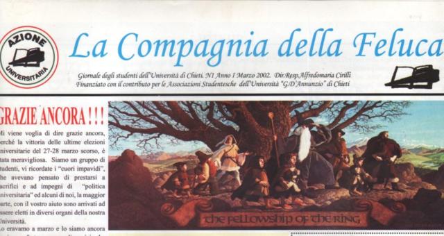 Dagli archivi Lorien: La Compagnia della Feluca n. 1 Marzo 2002