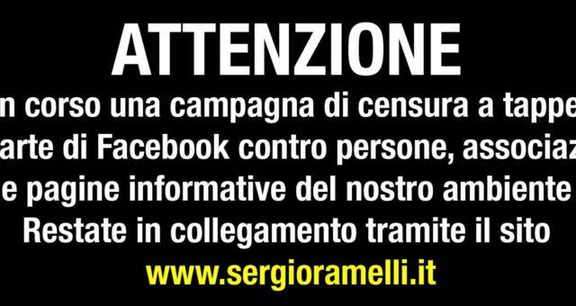 Attenzione campagna di censura su facebook