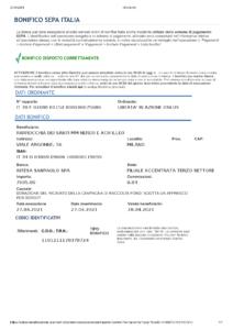 Bonifico Parrocchia 27-04-21