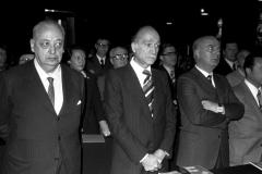 IL SEN. G. NENCIONI, L'ON. G. ALMIRANTE E L'ON. F. SERVELLO