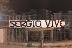 Striscione in ricordo di Sergio