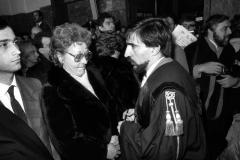 16 MARZO 1987 - L'AVV. I. LA RUSSA CON LA SIG. ANITA, MAMMA DI SERGIO