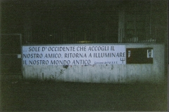 Striscione affisso dai Giovani del M.S.F.T.