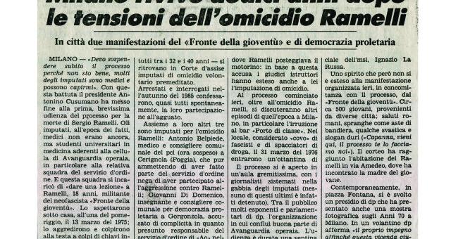 Dagli archivi Lorien: La Stampa 17 marzo 1987