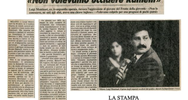 Dagli archivi Lorien: La Stampa 25 marzo 1987