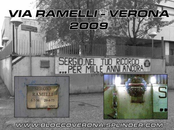 Via Ramelli 2009 (collage di Casapound Verona)