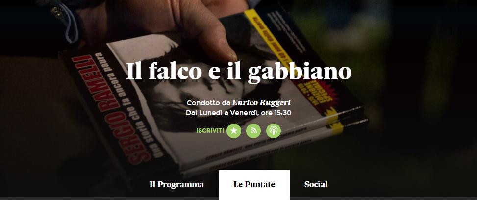 """Podcast della trasmissione """"Il Falco e il Gabbiano"""". 12 giugno 2015"""