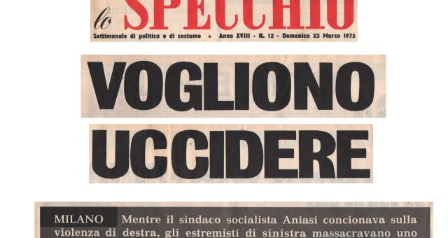 Dagli archivi Lorien: Lo Specchio 23 marzo 1975