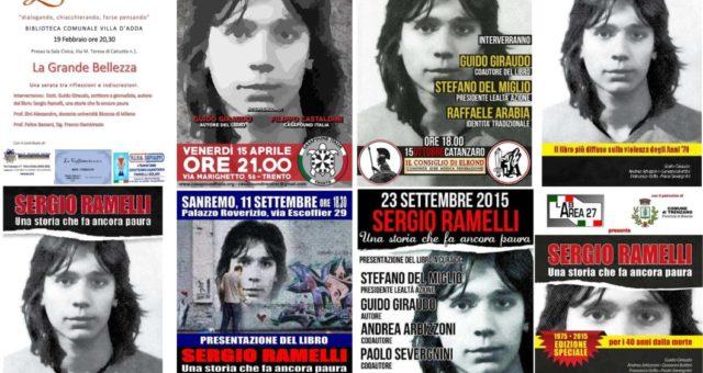 """Presentazioni Settembre 2015/Dicembre 2016 """"Sergio Ramelli. Una storia che fa ancora paura"""""""