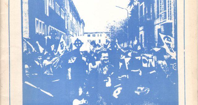 Dagli archivi Lorien: Fare Fronte n. 6 primavera 1987