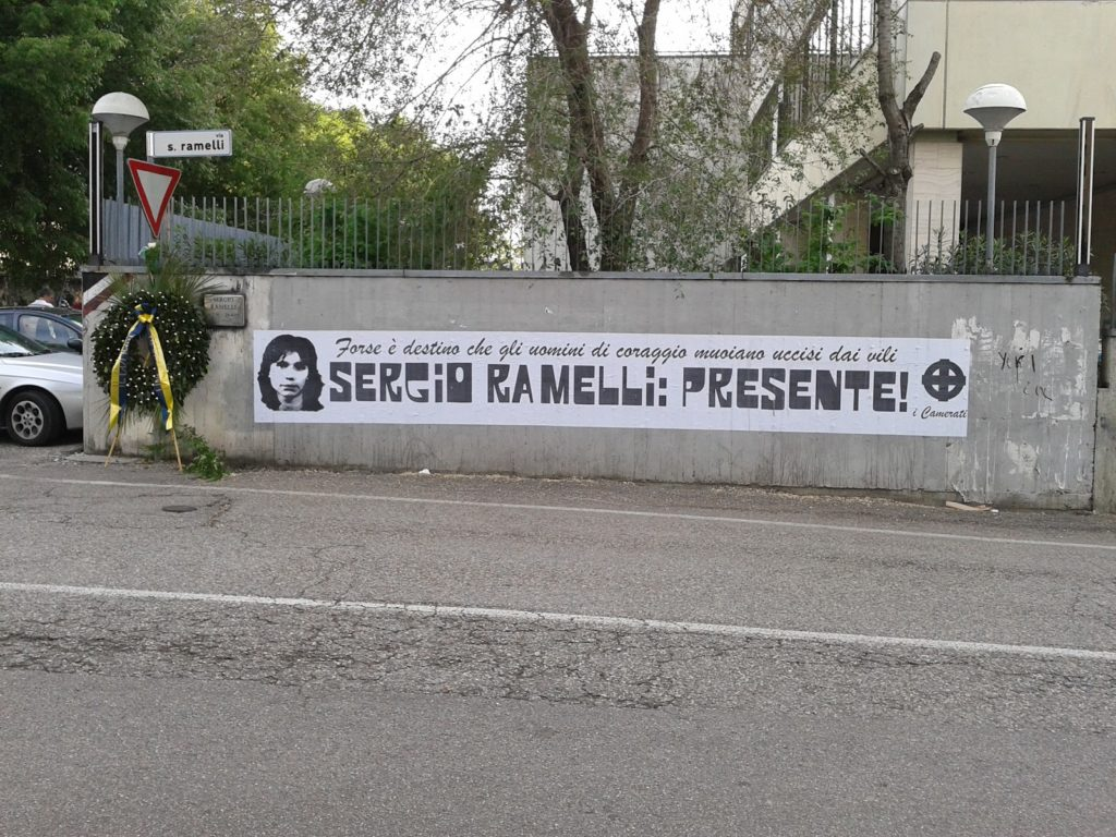 Verona 29 Aprile commemorazione Sergio Ramelli