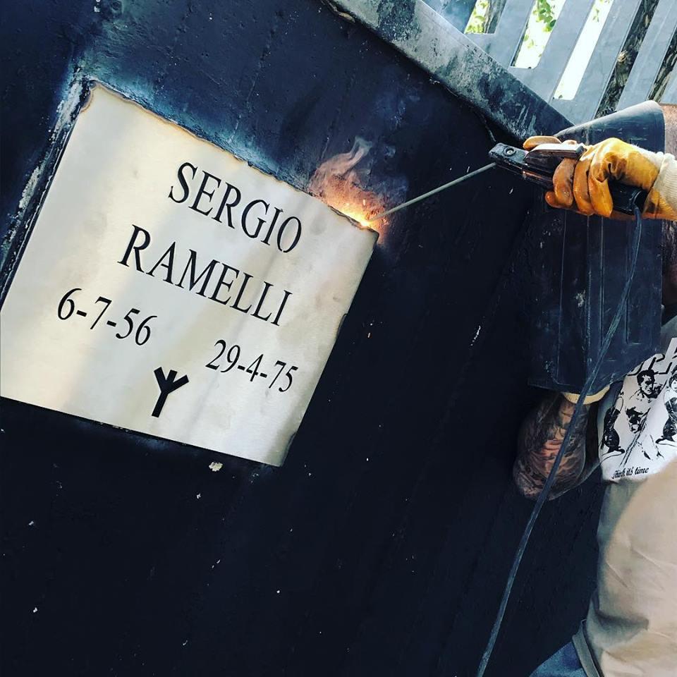 2018-04-28 Verona ripristino targa Ramelli