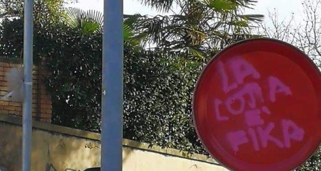 Perugia vandalizzata la rotaroria Sergio Ramelli