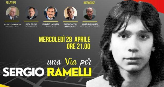 28 aprile 2021 – Una via per Sergio Ramelli