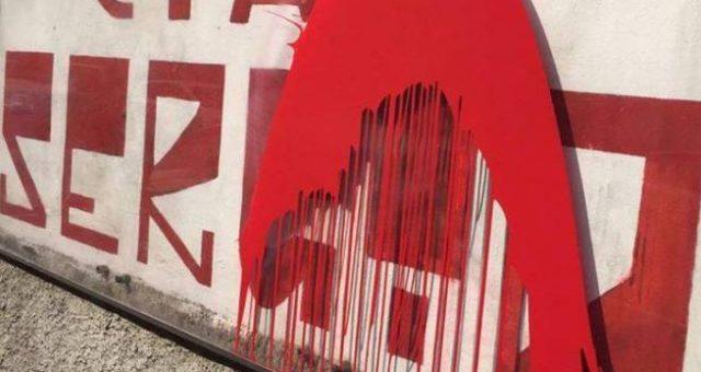 4 settembre 2016: Milano, vandalismo sul murales in Via Paladini